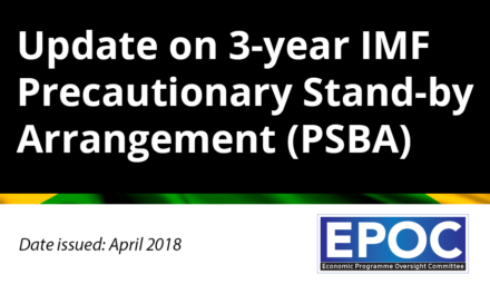 April 2018: Update on 3-year IMF Precautionary Stand-by Arrangement (PSBA)