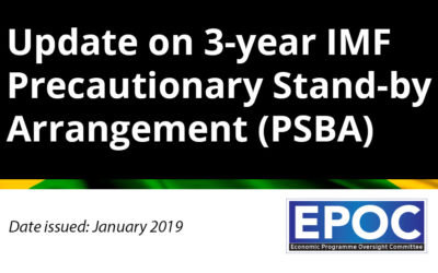 January 2019: Update on 3-year IMF Precautionary Stand-by Arrangement (PSBA)