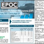 January 2020: Update on the GOJ Economic Reform Programme (ERP)