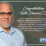 Congratulations Keith Duncan, CD