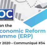 December 2020: Update on the GOJ Economic Reform Programme (ERP)